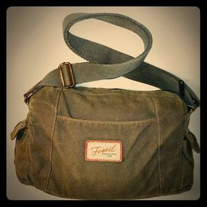 Fossil Purse in Olive Canvas
